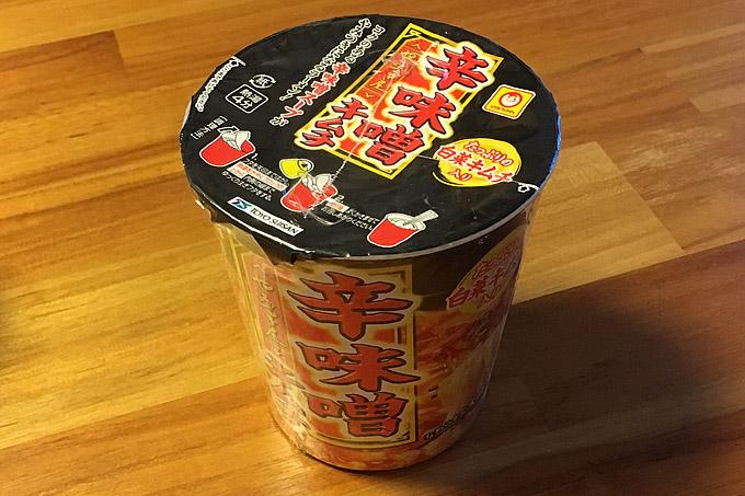 縦型ビッグ やみつき屋 辛味噌キムチ 食べてみました!白菜キムチが入った辛味噌スープ!