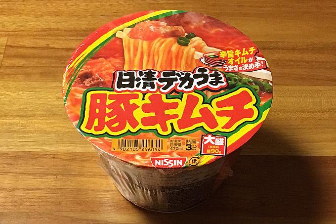 日清デカうま 豚キムチ 食べてみました!辛旨オイルが旨味を引き立てるデカくてうまい豚キムチ!