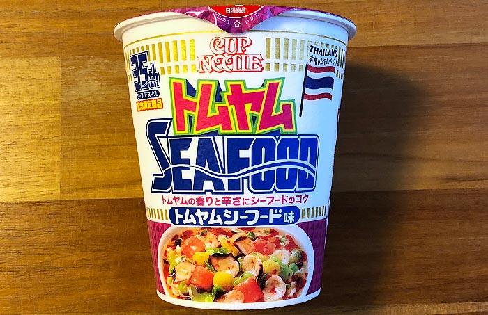 カップヌードル トムヤムシーフード味 パッケージ