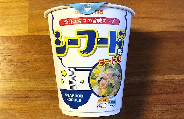 セコマ シーフード味ヌードル パッケージ
