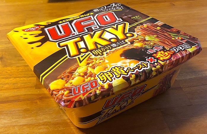 日清焼そばU.F.O. T.K.Y. 卵かけ焼そば 濃い濃い追いソース付き パッケージ