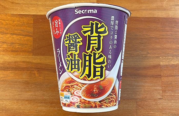 【セイコーマート】背脂醤油ラーメン パッケージ