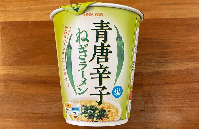 【セイコーマート】青唐辛子ねぎラーメン パッケージ