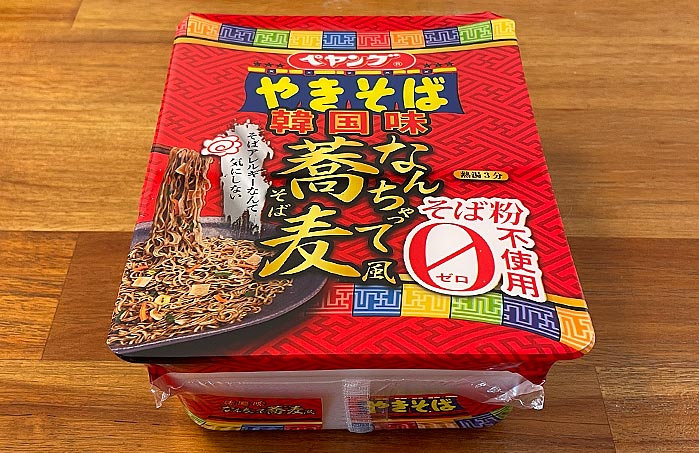 ペヤング 韓国味 なんちゃって蕎麦風